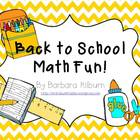 Back to School Math Fun {Common Core Aligned}