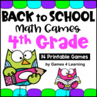 Back to School Math Games Fourth Grade