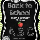 Back to School Math & Literacy {2nd Grade}