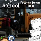 Back to School Math Problem Solving Pages - Addition, Subt