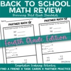 Back to School: Math Review of Grade 3 Concepts for 4th Gr
