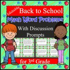 Back to School Math and Scenario Word Problems on Task Car