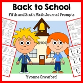 Back to School Mathbooking - Math Journal Prompts (5th and