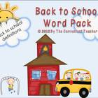Back to School Mini Word Pack