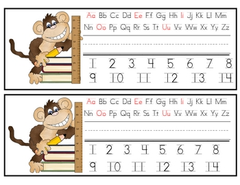 Back to School Monkey Nametags