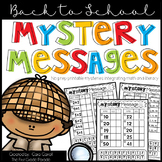 Back to School Mystery Messages