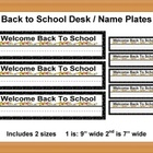 Back to School Name / Desk Plates