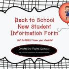 Back to School New Student Informational Form