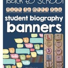 Back to School Nice to Meet You Student Biography Banners