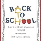 Back to School Night Ideas/printables ** FREEBIE**