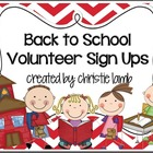 Back to School Night Parent Volunteer Sign up Forms