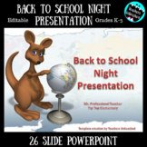 Back to School Night Presentation Animal Cuteness Style