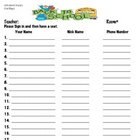 Back to School Night Printables