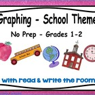 Graphing with Read & Write the Room Back to School - No-Pr