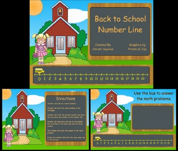 Back to School Number Line  SMARTBoard