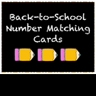 Back-to-School Number Matching Cards