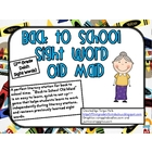 Back to School Old Maid-2nd Grade Sight Word Game