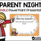 Back to School~ Open House Parent Presentation~Editable