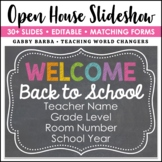 Chalkboard Theme Back to School Open House Powerpoint Template