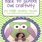 Back to School Owl Craftivity