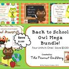 Back to School Owl Theme Mega Bundle (Four Units in One!)