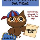 Back to School Pack Owl Theme