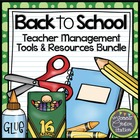Back to School: Teacher Management Tools and Resources Bundle
