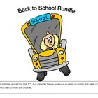 Back to School Packet : Let's go Back to School Bundle