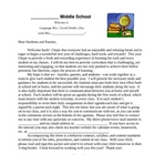 Back to School Packet - Letter, Behavior, Syllabus