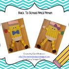 Back to School: Pencil Person Craftivity
