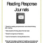Back to School Prep Reading Response Journals