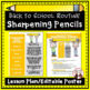 Back to School Procedures for Sharpening Pencils