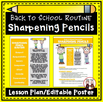 http://www.teacherspayteachers.com/Product/FREE-Back-to-School-Procedures-for-Sharpening-Pencils-275080