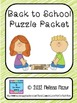 Back to School Puzzle Packet