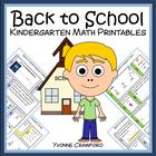 Back to School Quick Common Core (Kindergarten)