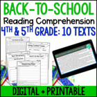 Back to School Reading and Writing Activities {Common Core