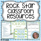 Back to School Rock Star Theme Classroom Resources