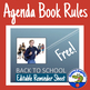 Back to School - Rules for Agenda Book