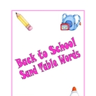 Back to School Sand Table Words