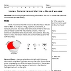Back to School Science Notes - Mass and Volume (6 - 9)