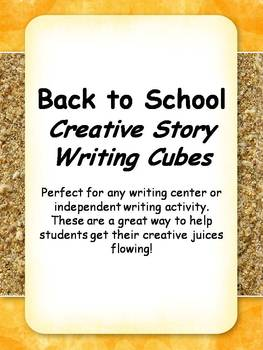 Back to School-September: Creative Story Writing Cubes