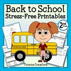 Back to School Stress-Free Printables - Second Grade Common Core