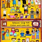 Back to School Student Centers and Teacher Clipart