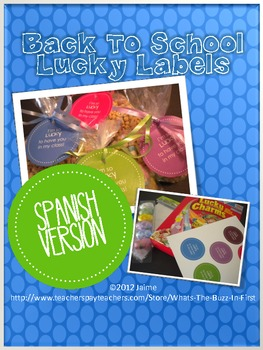 Back to School Student Gift Lucky Labels SPANISH VERSION