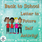 Back to School Student Letter to Future Self Writing Activity
