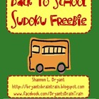Back to School Sudoku FREEBIE!