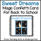 Back to School Sweet Dreams Magic Confetti Freebie