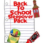 Back to School Take Home Backpack Sleepover