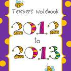 Back to School Teacher Binders in Purple Bees!