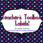 Back to School Teacher&#039;s Toolbox Labels